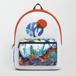 Mermaid blue and red Backpack