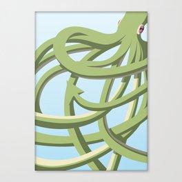 Octopus green Canvas Print