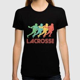 Lacrosse Player Retro Pop Art Graphic T-shirt