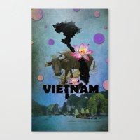 vietnam Canvas Prints featuring VIETNAM by kaysedilla