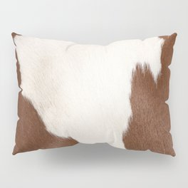 Brown Cowhide v4 Pillow Sham