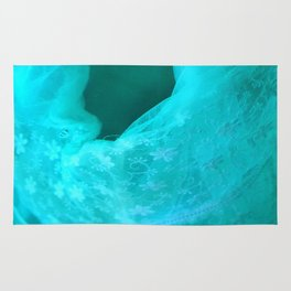 ghost in the swimming pool: aquagreen variations Rug
