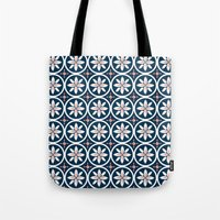 kiki Tote Bags featuring Linen Kiki by November Tigerlilly