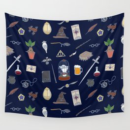 Harry Pattern Night Wall Tapestry