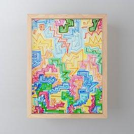 Block Zig Zags Framed Mini Art Print