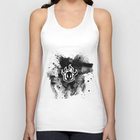 bleach Tank Tops featuring Bleach BW 3 by Bradley Bailey