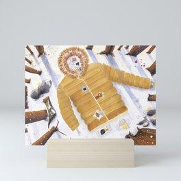 Sueño de un abrigo de invierno Mini Art Print