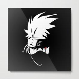 Kakashi Hatake Face - Naruto Metal Print