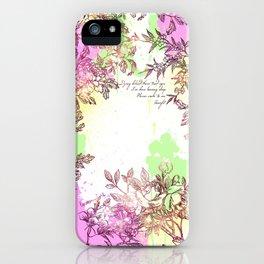 Floral Splatter iPhone Case