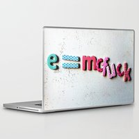 einstein Laptop & iPad Skins featuring einstein by Ez McBot