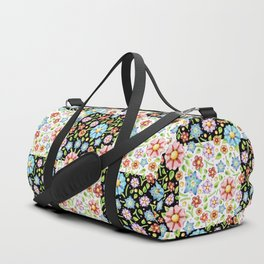 Millefiori Floral Checks Duffle Bag