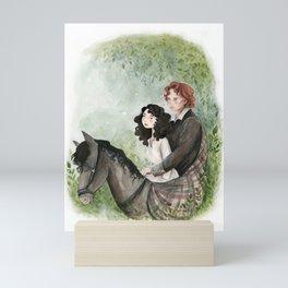 Claire and Jamie Mini Art Print