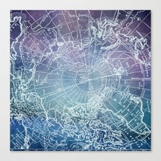 Polar Purples Canvas Print