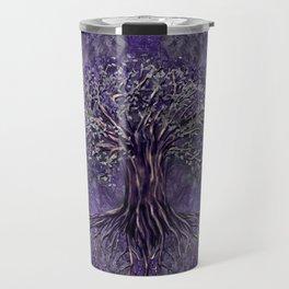 Tree of life -Yggdrasil Amethyst and silver Travel Mug