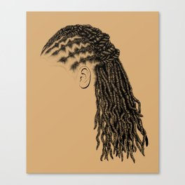 Crown: Styled Locs Canvas Print