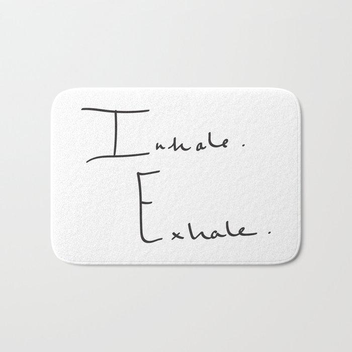 Inhale Exhale Bath Mat
