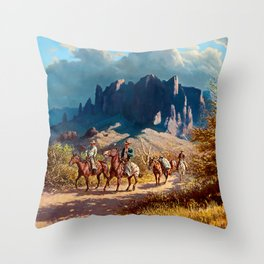 """""""Superstition Trail"""" by Oleg Wieghorst Throw Pillow"""