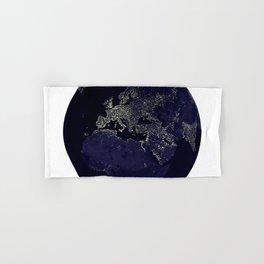 Earth Globe Lights Hand & Bath Towel