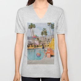 Palm Springs Pool Day IV Unisex V-Neck
