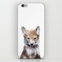 heart iPhone & iPod Skins featuring Little Wolf by Amy Hamilton