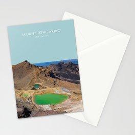 Mount Tongariro, New Zealand Travel Artwork Stationery Cards