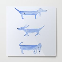 The Blue Dachshund Metal Print