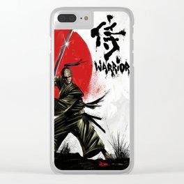 Samurai Warrior Clear iPhone Case