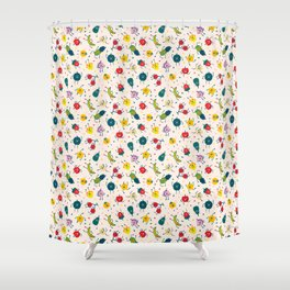 Happy fruits pattern Shower Curtain