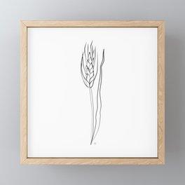 """ Kitchen Collection "" - Wheat Framed Mini Art Print"