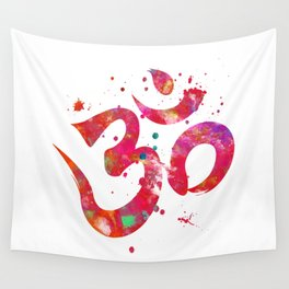 Colorful Om Symbol Wall Tapestry