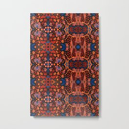 Indian Summer, orange blue black Metal Print