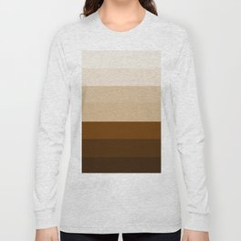 Coffee Liqueur and Cream Mix - Abstract Long Sleeve T-shirt