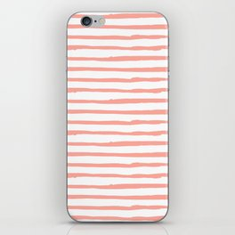 Pink Drawn Stripes iPhone Skin