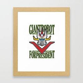 manga robots: great mazinger for president Framed Art Print