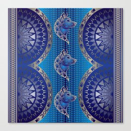 The Wolf (Blue) Canvas Print