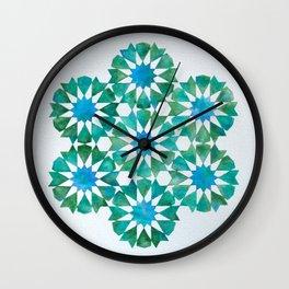 Emerald rosettes - Al-Nasir Muhammad Mosque Wall Clock