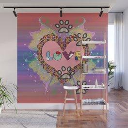Huellas de amor Wall Mural