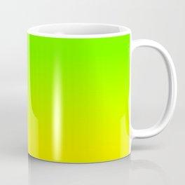 Neon Green and Neon Yellow Ombré  Shade Color Fade Coffee Mug