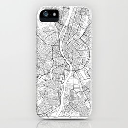 Budapest Map White iPhone Case