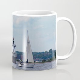 Sailing By the Lighthouse Coffee Mug