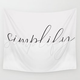 Art of simplicity Wall Tapestry