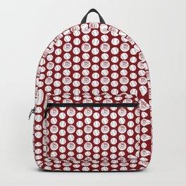 Baseball red pattern Backpack