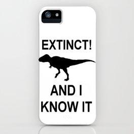 Extinct T-Rex iPhone Case