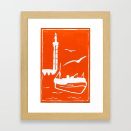 Home in Orange Framed Art Print