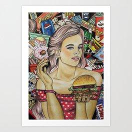 Unhealthy Art Print