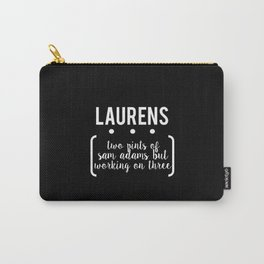 laurens // black Carry-All Pouch
