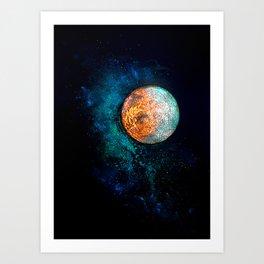 Mars and Luna Art Print
