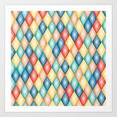 PatternPlay Series - rhombus Art Print