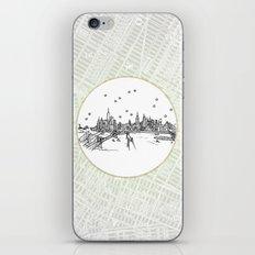 New York, New York City Skyline Illustration Drawing iPhone Skin