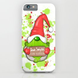 Grinch Gnome iPhone Case